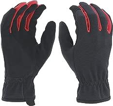 Ironton Men's High-Dexterity Utility Gloves - Black/Red, Large, Model Number 86220IR-L