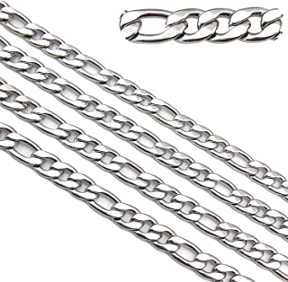 5mm Width 16.5ft Stainless Steel Figaro Chains Findings Fit for Jewelry Making &DIY (SC-1000-C)