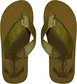 Peach Couture Mens Flip Flop Synthetic Suede Stappy Beach Flats Sandals