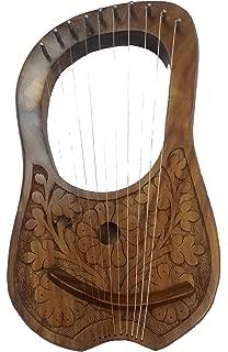 AJW Nouvelle Lyre harpe 8 cordes deux tons Couleur//Lyra harpe 8 cordes en m/étal Housse de transport