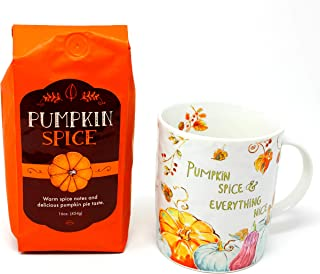 Pumpkin Spice Ground Coffee and Pumpkin Spice & Everything Nice Coffee Mug Gift Set