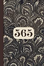 Monogram 365 Day Journal Marble Notebook (Coffee Peacock Edition): Blank Lined Notebook Diary for One Year Projects: Page ...