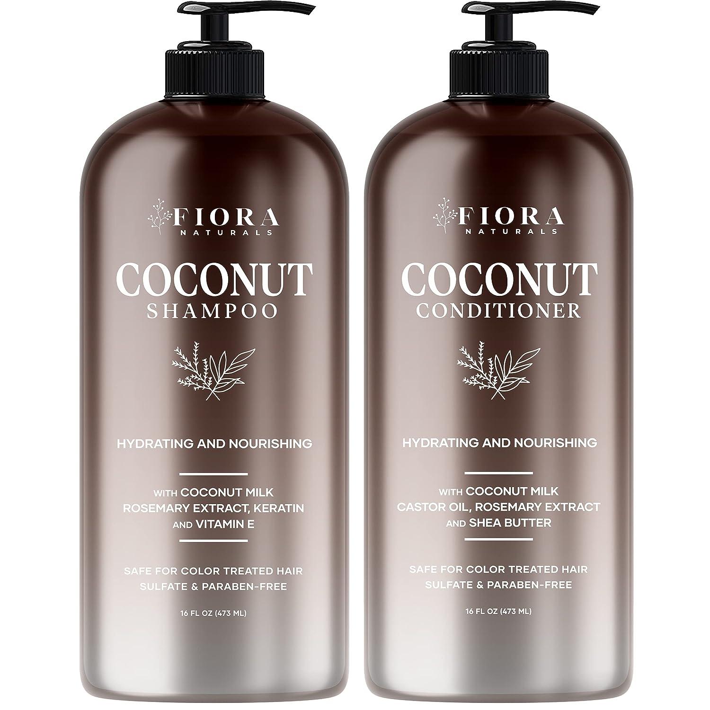 Max 47% OFF Fiora shipfree Naturals Coconut Milk Shampoo Sulfate set. and Conditioner