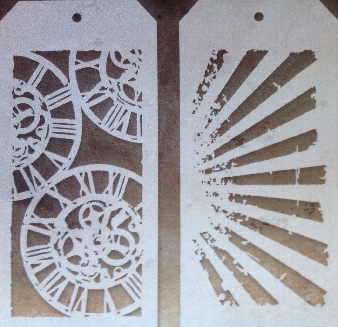 Tim Holtz Layering Stencils Duo Pack ~ Clockwork & Rays!!!