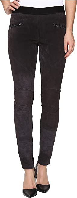 Pull-On Suede Grey Skinny in Highs/Lows