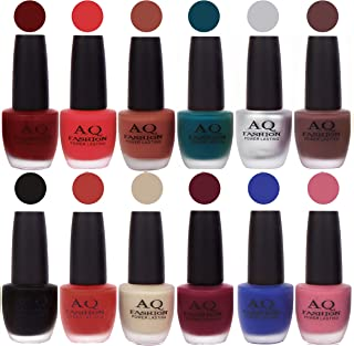 AQ Fashion Classical Rich Velvet Matte Nail Polish Combo 3283