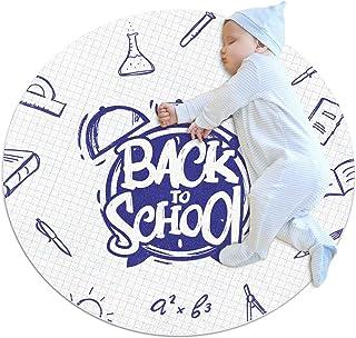 Område mattor lätt väckarklocka start skolbok klotter golvmatta mjuk matta diameter 40 cm för hem vardagsrum matsal