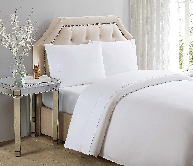 Charisma PC1878BWKS-4700, Cotton 610 Thread count Envelope Closure pillowcases, King, Bright White, 2 Piece