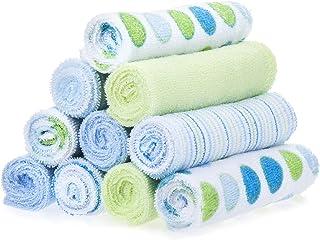Spasilk 10 Pack Soft Terry Bath Washcloths – Newborn Boy or Girl –