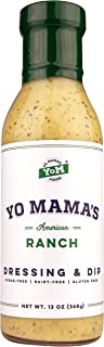 Low Carb Gourmet Ranch Dressing by Yo Mama's Foods | Pack of (1) 13 Ounce Bottle - Dairy Free, Gluten Free, and All Natural!