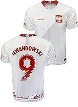 Sports Outlet Express Men's Polish Polska #9 Lewandowski Replica Jersey Poland National Team