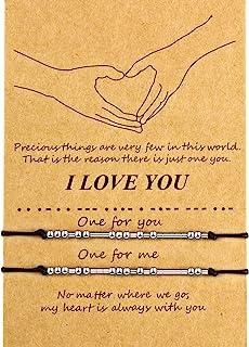 Braccialetto Morse di San Valentine Braccialetto di I Love You Bracciale di Famiglia Amicizia Coppia Regalo