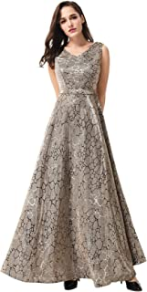 فستان لل نساء مقاس L , متعدد الالوان - فساتين سهرات