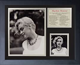 Legends Never Die Marilyn Monroe Necklace Black and White Framed Photo Collage, 11x14-Inch