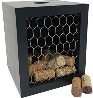Napa Gift Store Wine Cork Shadow Box & Display Case with Chicken Wire - Holds Over 60 Corks - 7