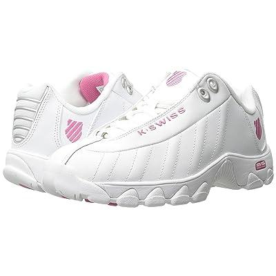 K-Swiss ST329 CMF (White/Shocking Pink Leather) Women