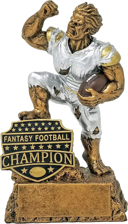 Decade Awards Fantasy Football League Champion Monster Trophy FFL Winner Beast Award 6.5 Inch Exclusive,gold, Silver