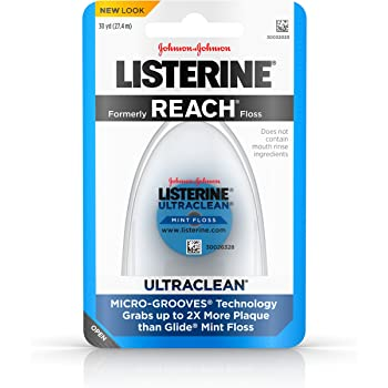 Listerine Ultraclean Floss, Mint, 30 yd