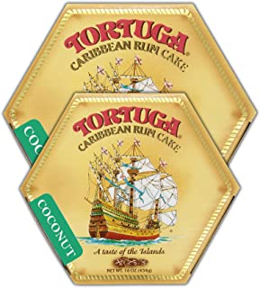 Tortuga Caribbean Coconut Rum Cake, 16-Ounce Box - Pack of 2