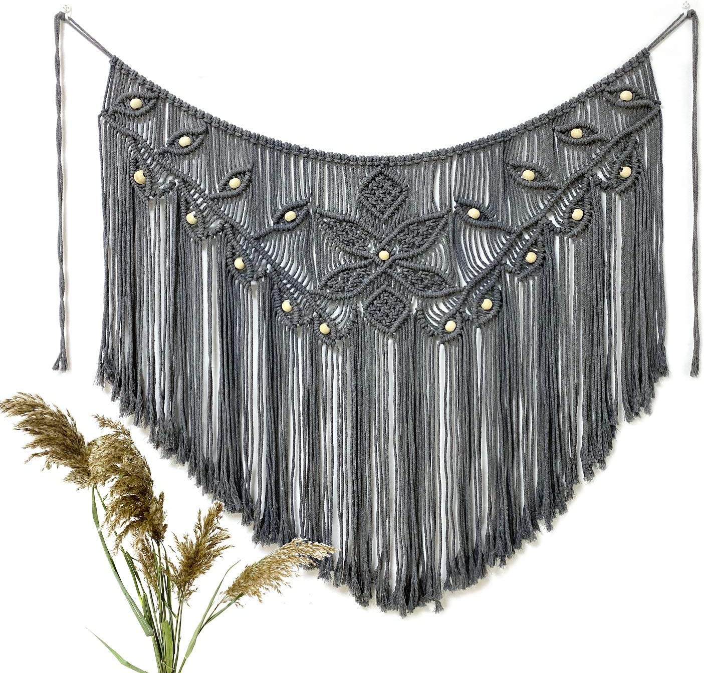 Youngeast Home Decor Leaf Ranking TOP10 Shape low-pricing Woven Macrame Tapes Hanging Wall
