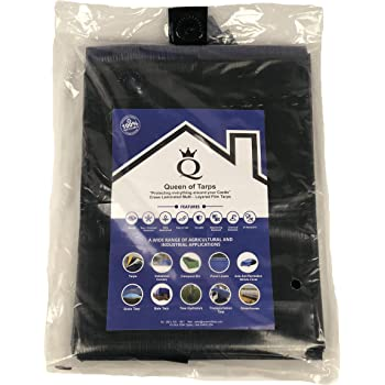 Mold and Mildew Resistant! 8x16 16.5 MIL Super-Strong Poly Tarp Cover Gray//White Water