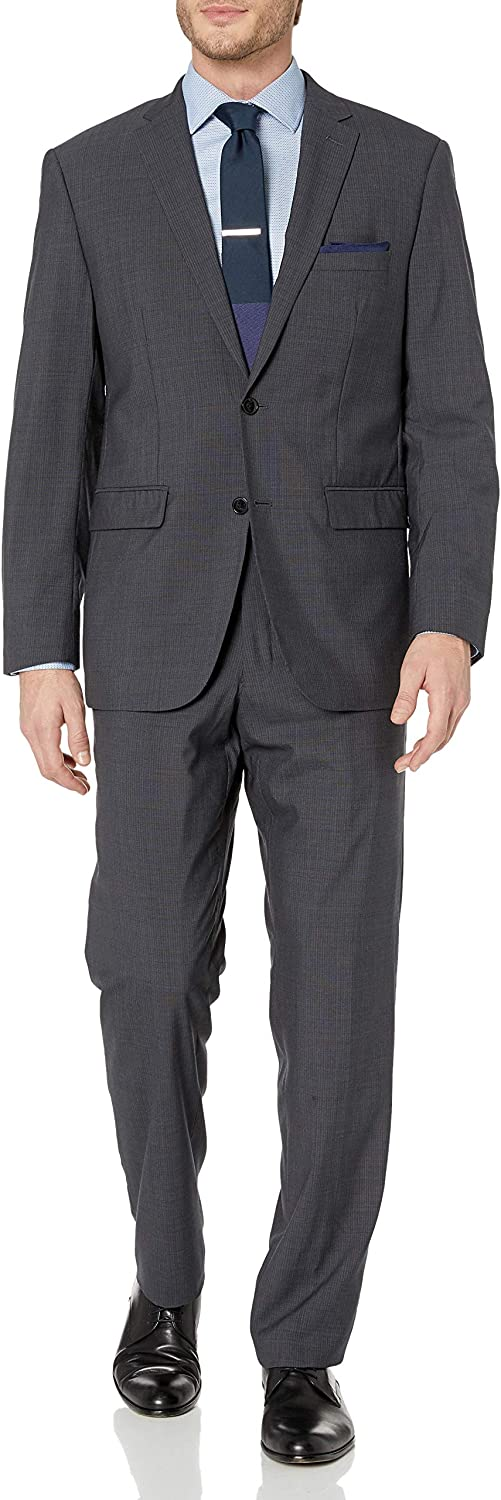 Vince Camuto Men's Two Button Modern Fit Pinstripe Suit