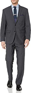 Men's Two Button Modern Fit Pinstripe Suit