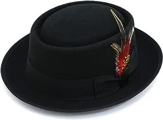 Ferrecci Premium Black Wool Pork Pie HAT -Walter White Heisenberg Breaking Bad