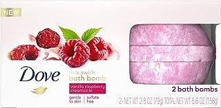 Dove Milk Swirls Vanilla Raspberry Creamsicle Bath Bombs 2.8 oz (Twin Pack)