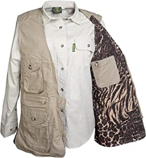 Vent Back Livingstone Vest for Women, 100% Cotton, Utility Outerwear, Multi Pocket, Perfect for Outdoor Activities