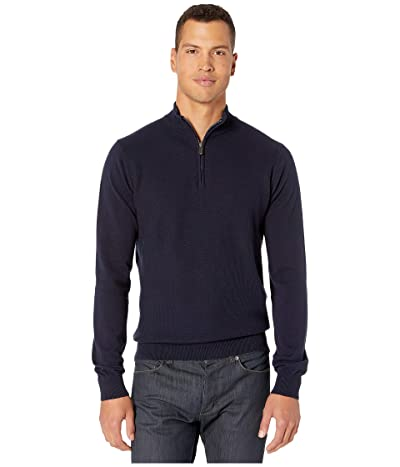 Ben Sherman 1/4 Zip Sweater (Navy) Men