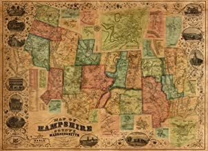 Map: 1854 of Hampshire County, Massachusetts|Central Business Districts|Hampshire County|Hampshire County Mass|Massachusetts|Northampton|Real Property|Villages