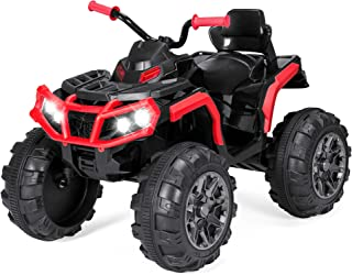 Best Choice Products Kids 12V Electric Ride On Car, 3.7mph, Reversible, LED Lights, AUX, Radio, Red