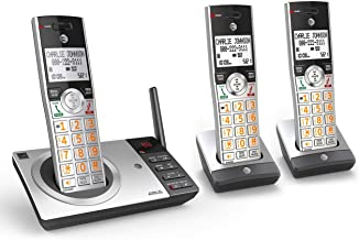 AT&T CL82307 DECT 6.0 Expandable Cordless Phone with Answering System & Smart Call Blocker, Silver/Black with 3 Handsets (... photo