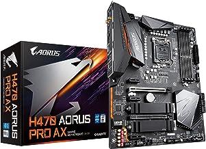 Gigabyte H470 AORUS PRO AX (LGA1200/INTEL/H470/ATX/SATA 6Gb/s/USB3.2 Gen 2/WiFi 6/2.5 GbE LAN/HDMI/DP/Dual M.2/DDR4/Mother...