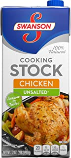 SwansonUnsalted Chicken Cooking Stock, 32 oz.  (Pack of 12)