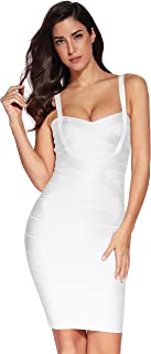 Women's Celebrity Bandage Bodycon Dress Strap Party Pencil Dress