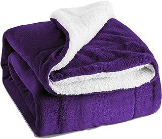 Bedsure Sherpa Fleece Blanket King Size Purple Plush Blanket Fuzzy Soft Blanket Microfiber