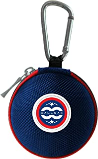Ballsak Sport - Red/White/Blue - Clip-on Cue Ball Case, Cue Ball Bag for Attaching Cue Balls, Pool Balls, Billiard Balls, Training Balls to Your Cue Stick Bag EXTRA STRONG STRAP DESIGN!