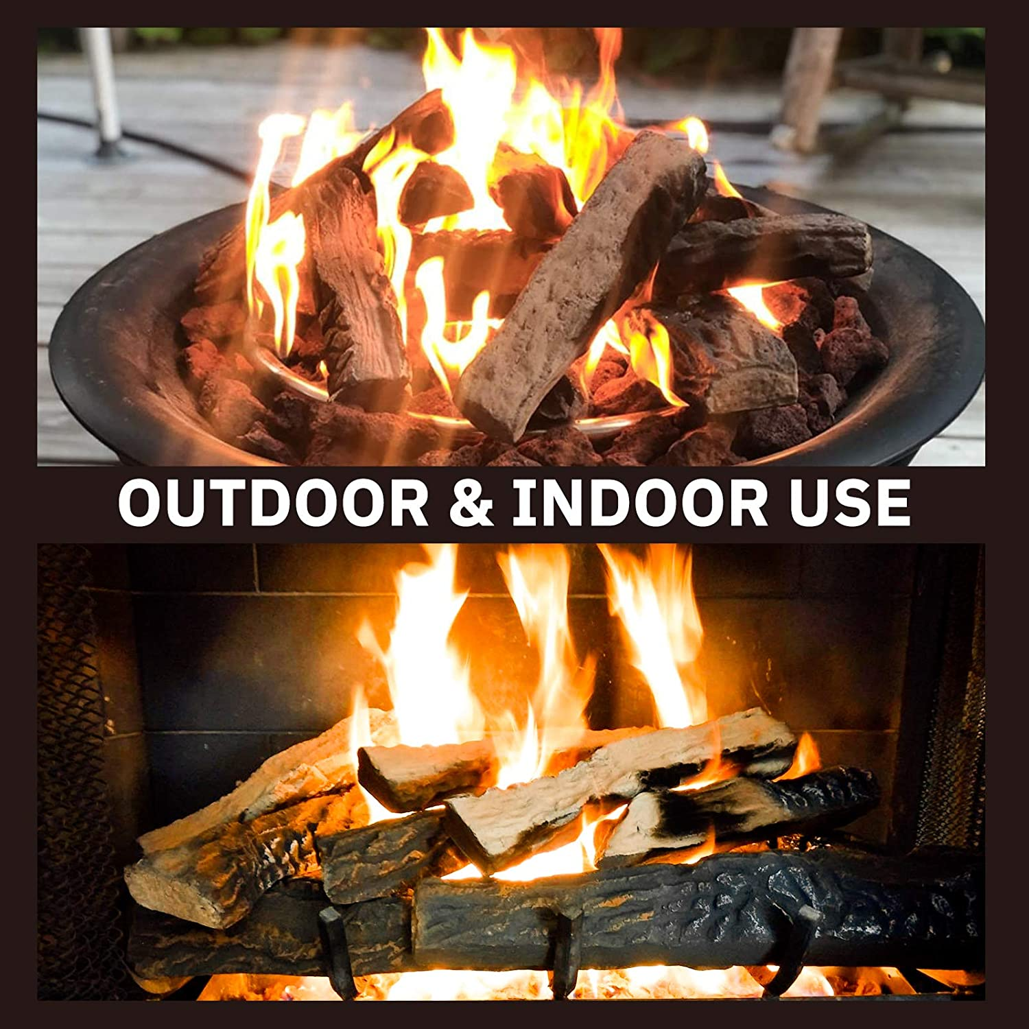 Buy GASPRO Gas Fireplace Logs, 20 Piece Ceramic Logs for Gas ...