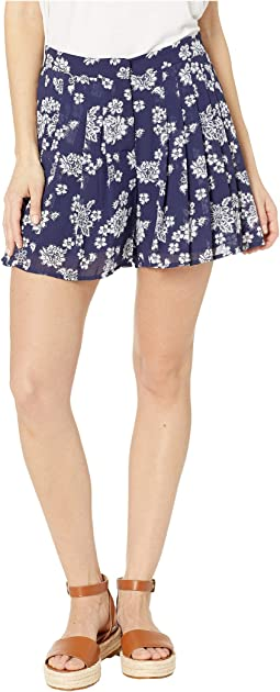 Tossed Lace Print Shorts
