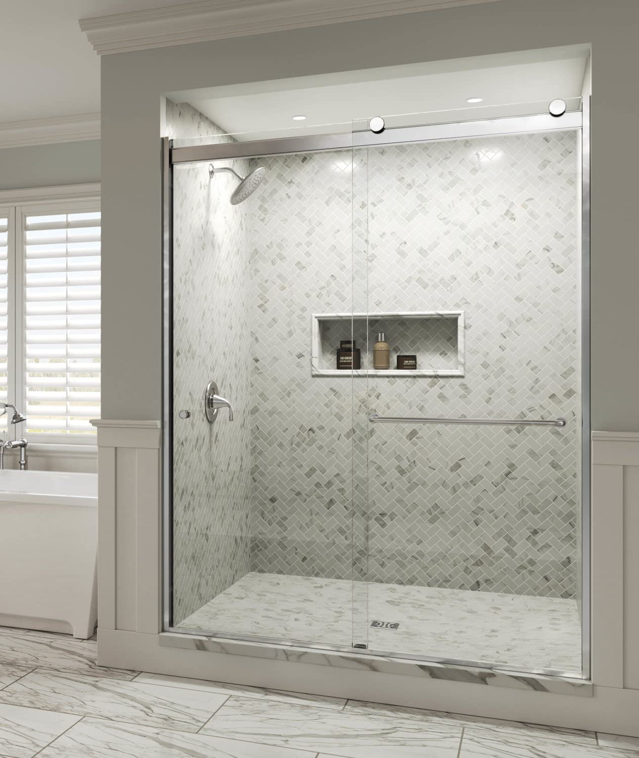 Basco Shower Door RTLH05B5670XPSV Rotolo x in. 52-1 Award Wide 40% OFF Cheap Sale 16-56