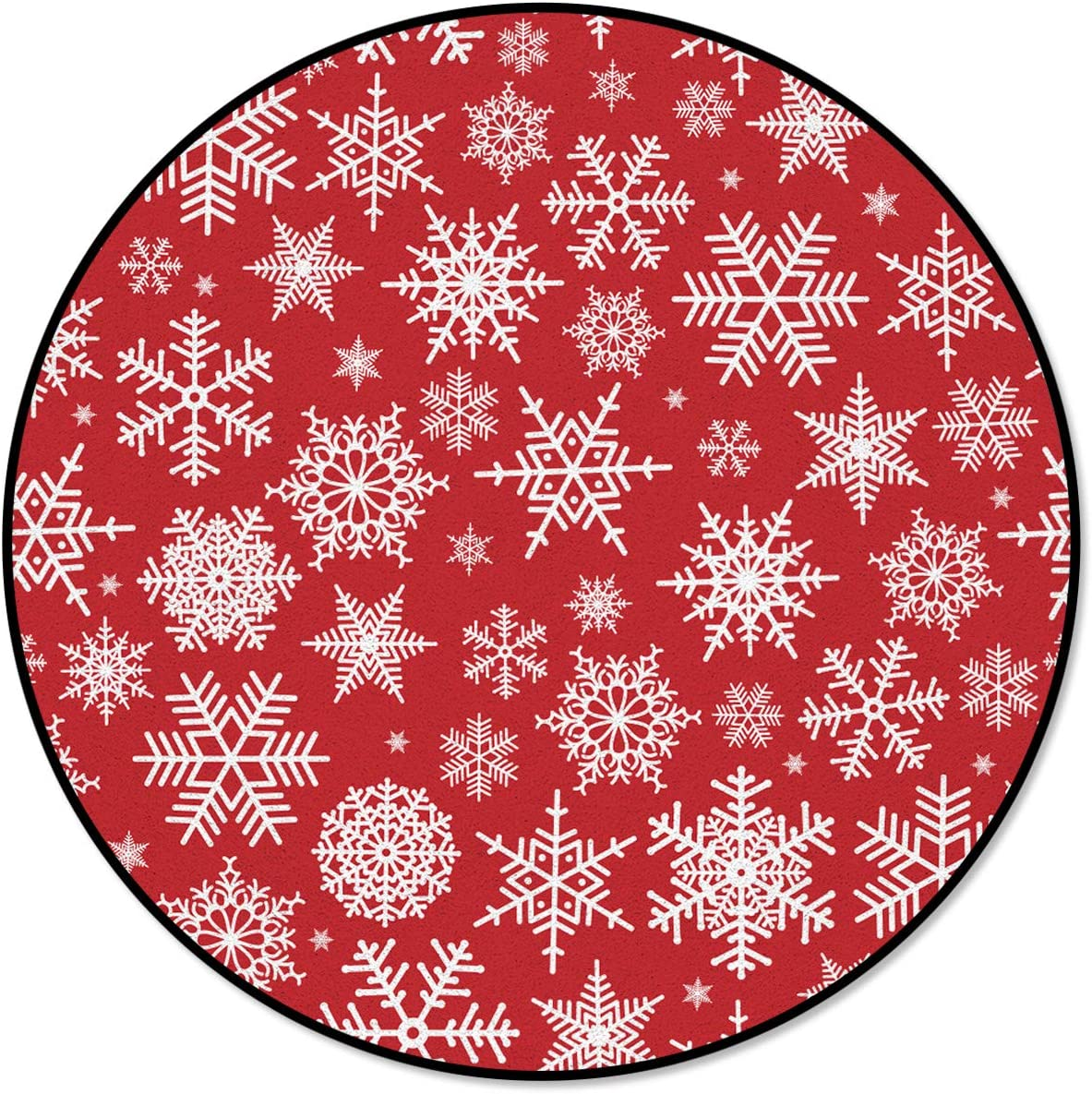 Round Area Rug Indoor Carpet Non Floor Slip Red San Francisco Mall Mat Diameter 3' Free shipping New