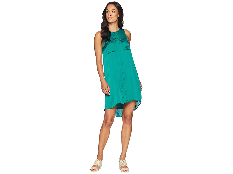 Kenneth Cole New York Chest Pockets Dress (Ultramarine Green) Women