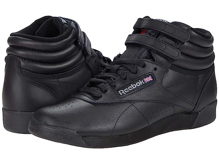 1980s Clothing, Fashion | 80s Style Clothes Reebok Lifestyle FS Hi Black Womens Shoes $70.00 AT vintagedancer.com