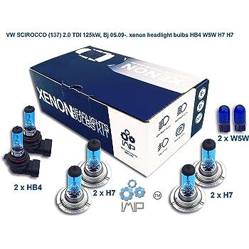 H7 Bulb Set Headlight Bulbs Xenon Bright White Light For VW Scirocco 137 2.0 TDI