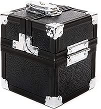 KM-S02 Vault Lockable Black Metal Single Deck Box for Deck Protector Storage LCG Toploader Trading Cards TCG Sleeve MTG Magic the Gathering Pokemon YGO Yugioh EDH Dice Star Wars Game of Throne