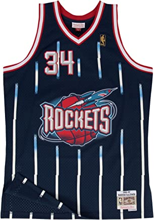 17ffd78c60ff1 Hakeem Olajuwon Houston Rockets Mitchell and Ness Men s Navy Throwback Jesey