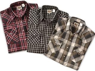 ELY CATTLEMAN Mens Easy Care Long Sleeve Western Plaid Shirt
