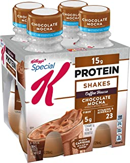 Special K Protein Shakes, Café Inspired, Chocolate Mocha, Gluten Free, 10 fl oz Bottles (4 Count)